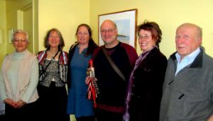 From left to right: Shirley Nortcliff, Ann Rothfels, Heather Davis, Michel Thibeault, Elizabeth Copeland, Jason Kerpan